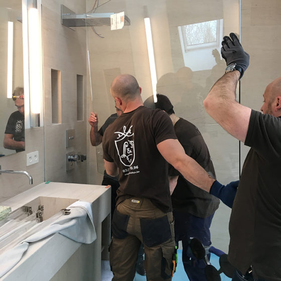 Miroiterie Leys and Fils - ensemble lavabo